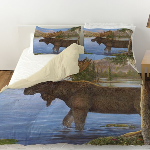 Majestic Moose Duvet Cover by Manual Woodworkers & Weavers