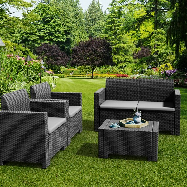 Callan 8 Piece Sofa Seating Group with Cushions by Rosecliff Heights