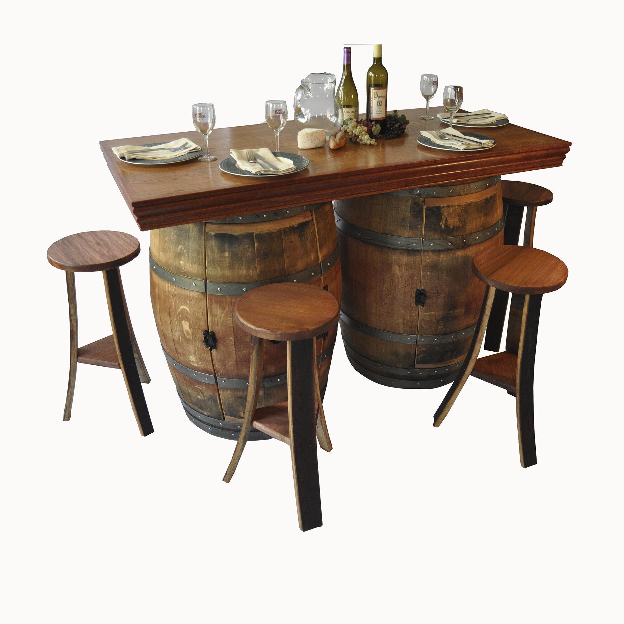 Napa East Collection Wine Barrel 5 Piece Dining Set   Wayfair