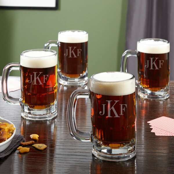 Benton Personalized Classic 14 oz. Beer Mug (Set of 4) by Home Wet Bar