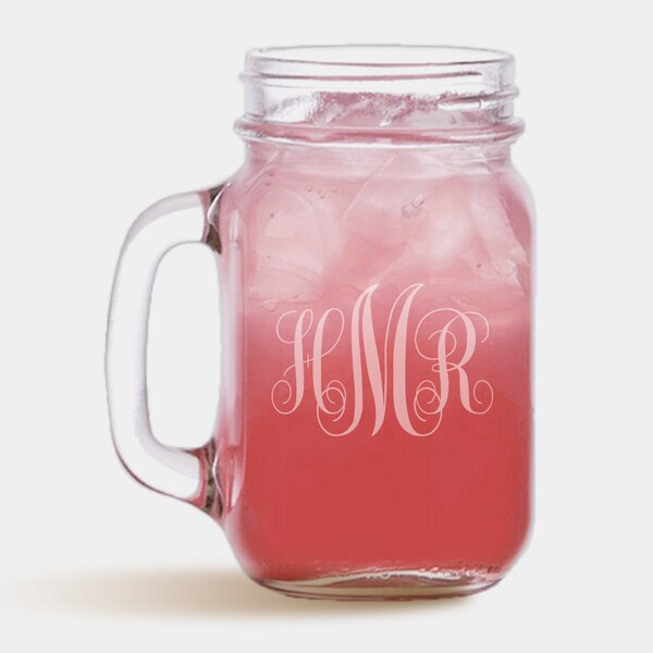 Personalized Initial 16 oz. Mason Jar by Monogramonline Inc.