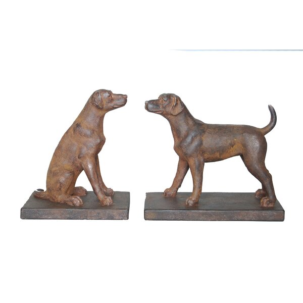 Dog Bookends by Charlton Home