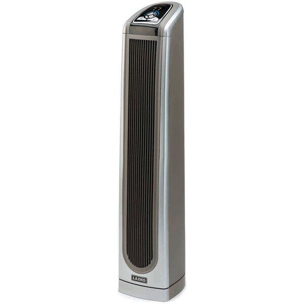 Ceramic 1,500 Watt Portable Electric Fan Tower Heater with Logic Center Remote Control by Lasko