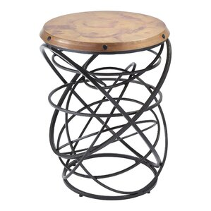 Rustic Top Ring End Table ..