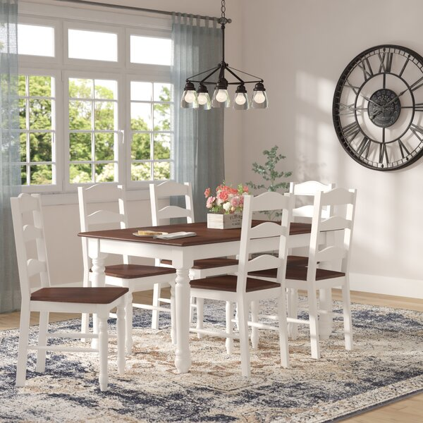 Junius 7 Piece Dining Set by Laurel Foundry Modern Farmhouse Laurel Foundry Modern Farmhouse