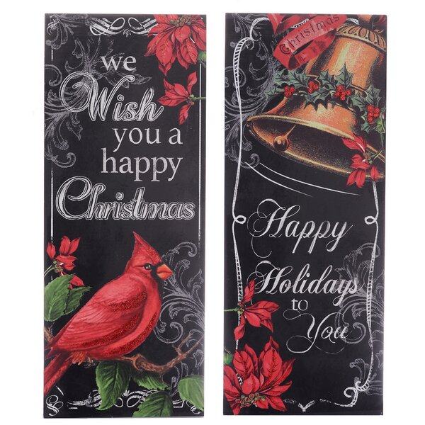 Holiday 2 Piece Graphic Art on Plaque Set by The Holiday Aisle
