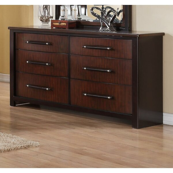 Dever Contemporary 6 Drawer Double Dresser by Red Barrel Studio