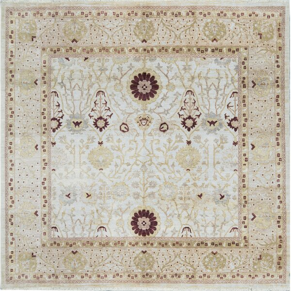 One-of-a-Kind Ziegler Hand-Knotted Wool Ivory Indoor Area Rug by Bokara Rug Co., Inc.