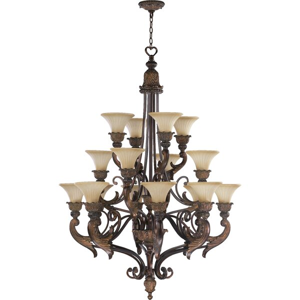Mcfarlin 16-Light Shaded Tiered Chandelier by Astoria Grand Astoria Grand