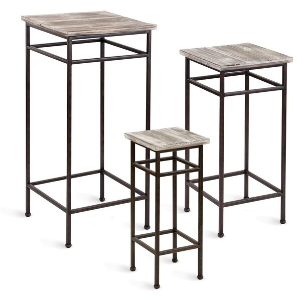 Kezar 3 Piece Nesting Plant Stand Set by Union Rustic