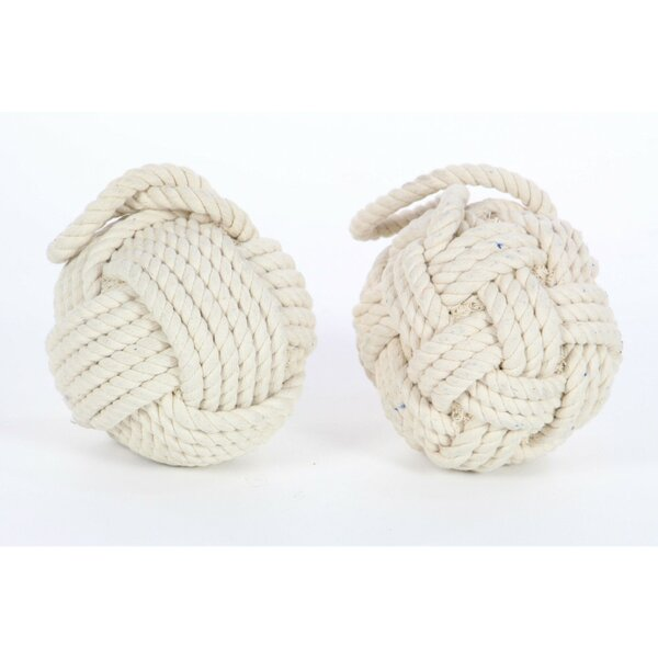 Dapper Rope Wall Stop (Set of 2) by Benzara