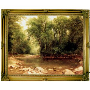 'Landscape 1867' Framed Print on Canvas by Historic Art Gallery