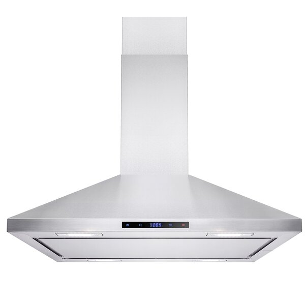 36 400 CFM Ductless Island Mount Range Hood by AKDY