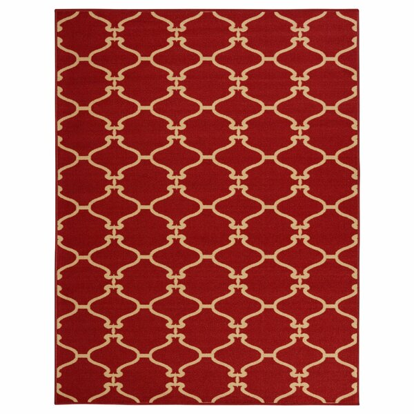 Clifton Machine Wooven Red Area Rug by sweet home stores