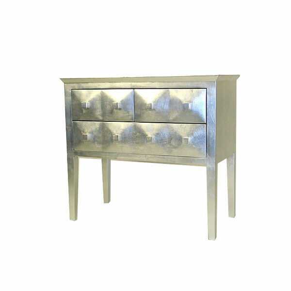 Furnier Modern Reflective 3 Drawer Chest by World Menagerie World Menagerie