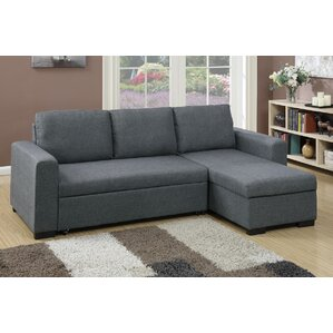 Bobkona Jassi Sleeper Sectional  sc 1 st  Wayfair : sleeper sectional sofa with chaise - Sectionals, Sofas & Couches