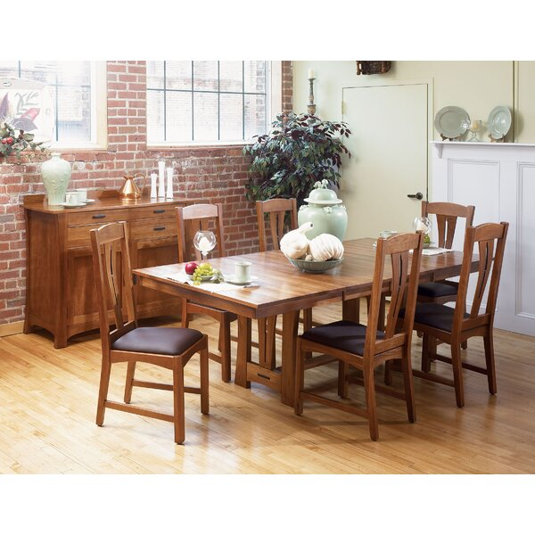 Lewistown Extendable Solid Wood Dining Table by Loon Peak