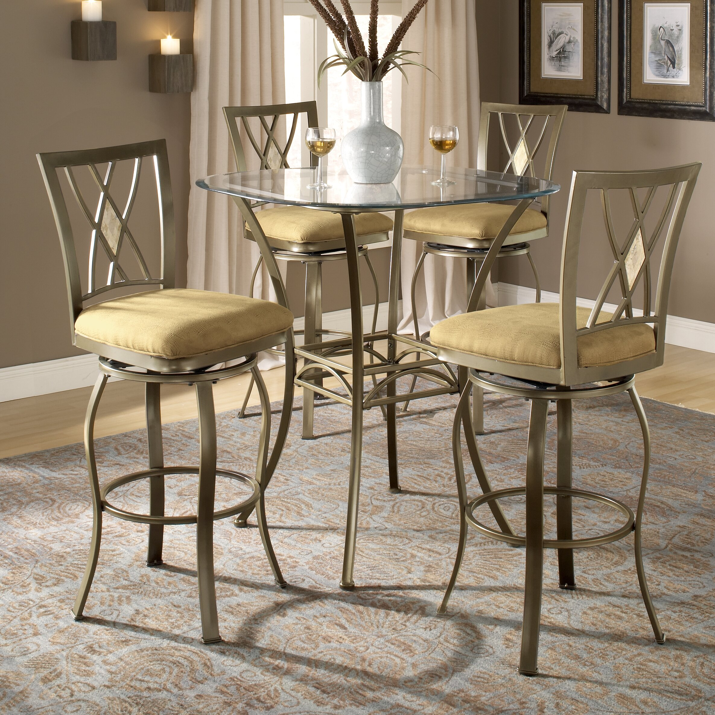 Darby Home Co Dallas Bar Height Bistro Table Set Reviews Wayfair