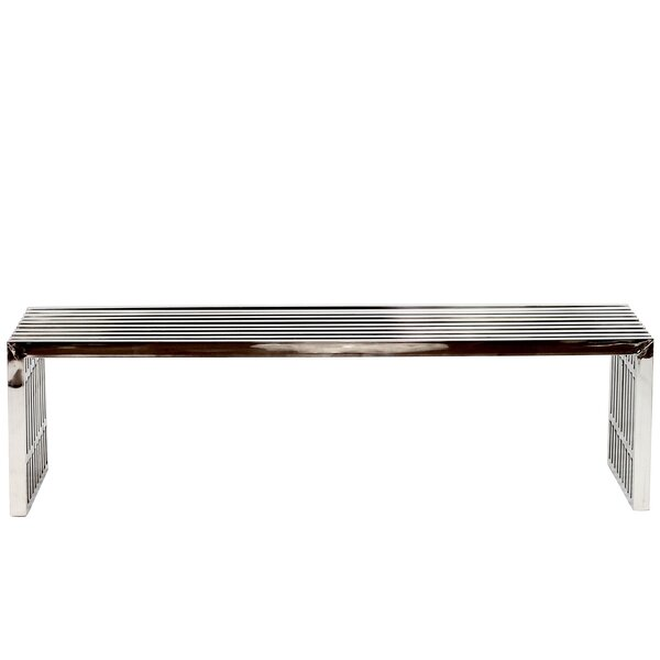Gunnar Stainless Steel Bench by Wade Logan
