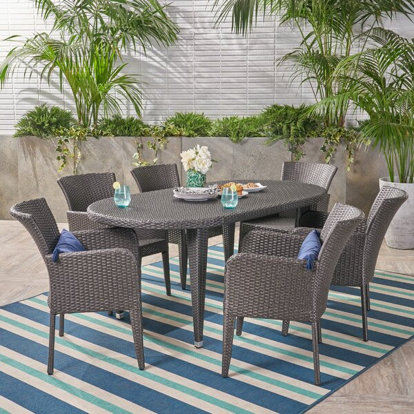 Eliason Outdoor 7 Piece Dining Set by Latitude Run