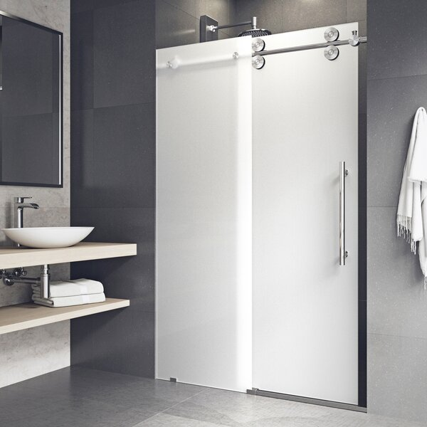 Elan 60 x 74 Single Sliding Frameless Shower Door