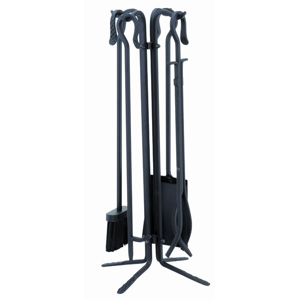 4 Piece Powdercoat Fireplace Tool Set With Stand by Uniflame Corporation