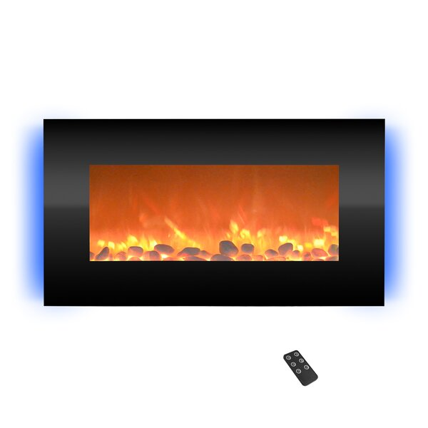 Hyler Wall Mounted Electric Fireplace By Orren Ellis
