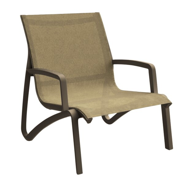 Leighann Sling Armless Lounge Chair (Set of 4) by Orren Ellis
