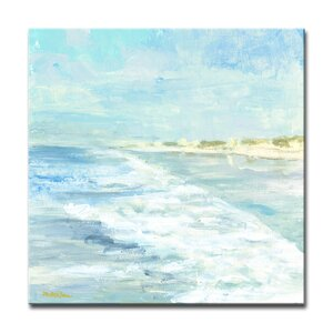 'White Water' Oil Painting Print on Canvas by Beachcrest Home