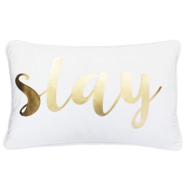 Adele Slay Script Velvet Pillow by Mercer41