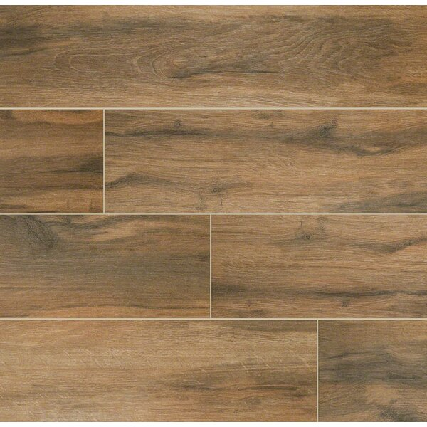Botanica Cashew 6 x 36 Porcelain Wood Tile in Glazed Textured by MSI