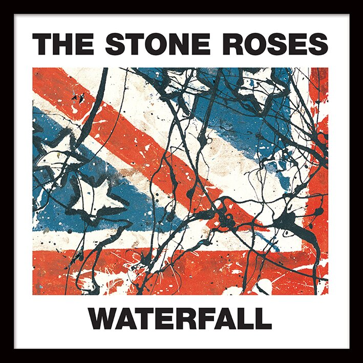 Art Group The Stone Roses \'Waterfall\' Album Cover Framed Wall art ...