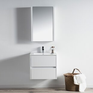 Oquendo 24 Wall-Mounted Single Bathroom Vanity Set with Medicine Cabinet ByOrren Ellis