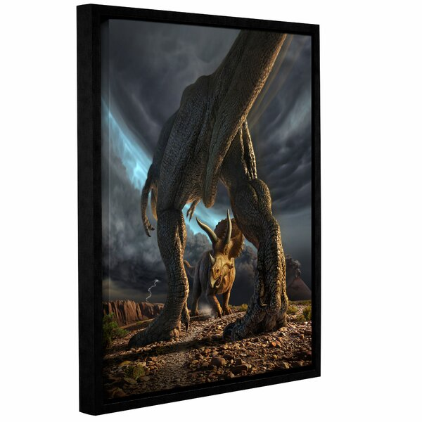 Face Off Framed Photographic Print on Wrapped Canvas by Zoomie Kids