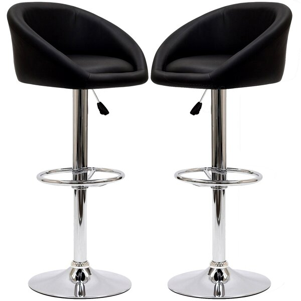Marshmallow Adjustable Height Swivel Bar Stool (Set of 2) by Modway