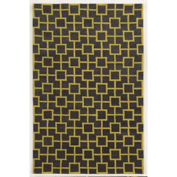 Larnaca Hand-Tufted Coal/Gold Area Rug by Meridian Rugmakers