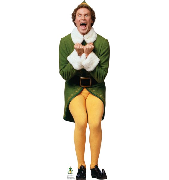 Elf Excited - Movie Elf Cardboard Standup by Advan
