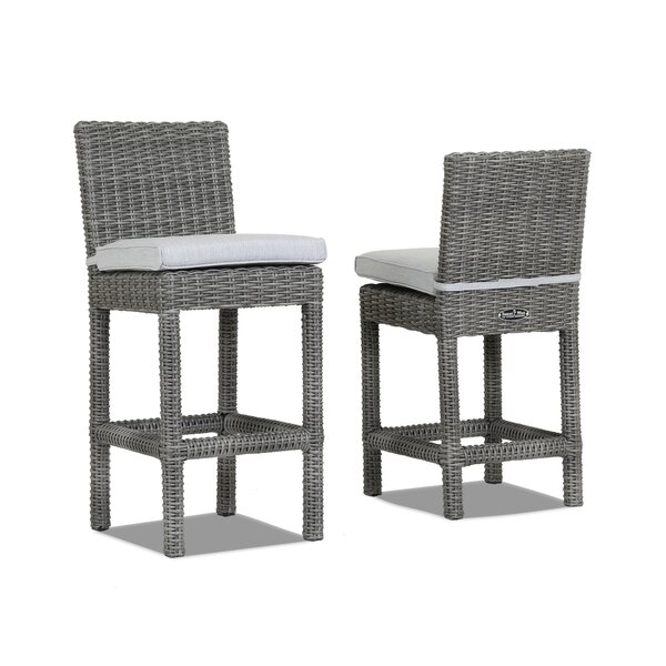Emerald II Counter 26 Patio Bar Stool with Cushion by Sunset West