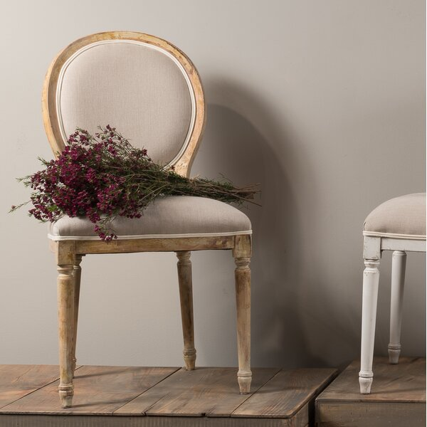 Round Back Upholstered Dining Chair (Set of 2) by Sarreid Ltd