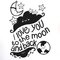 I Love You to the Moon and Back with Stars Wall Sticker