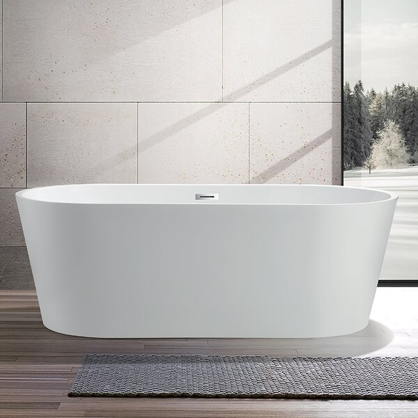 59 x 29.5 Freestanding Soaking Bathtub by Vanity A