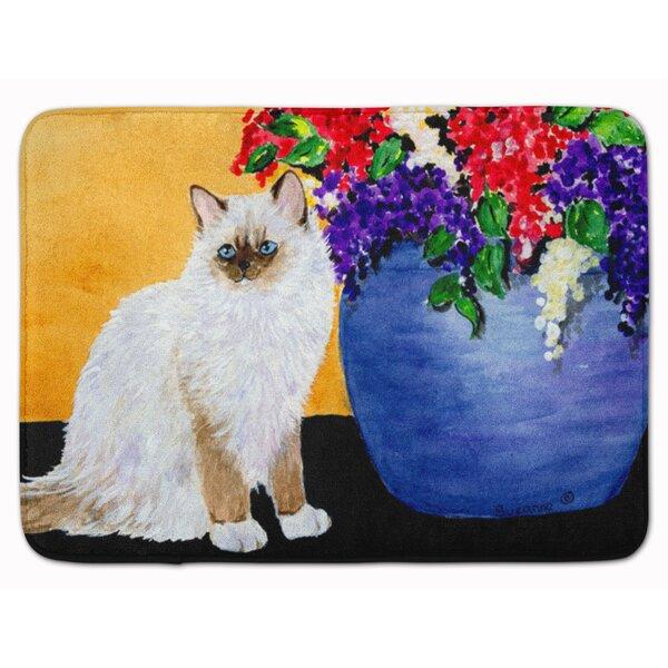 Cat Ragdoll Rectangle Microfiber Non-Slip Bath Rug