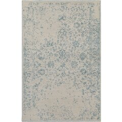 Gulshan Hand-Knotted Denim/Khaki Area Rug by Bungalow Rose