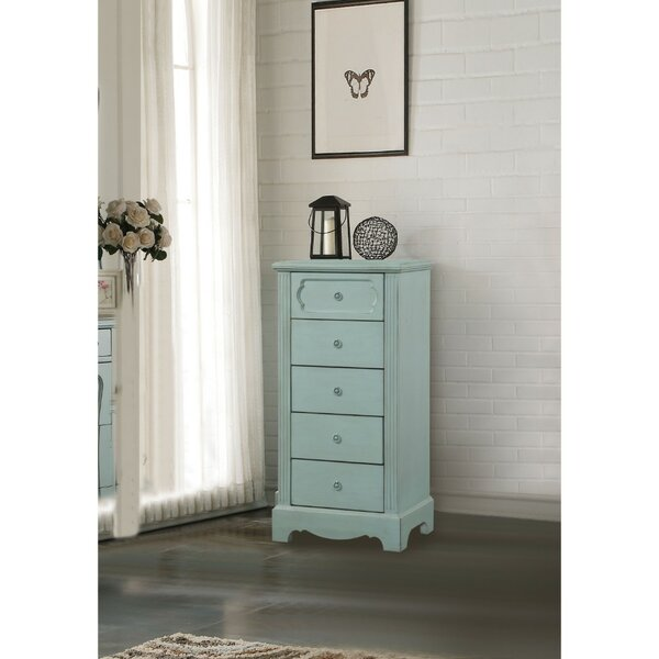 Adrian Traditional Style Wood and Metal 5 Drawer Lingerie Chest by Alcott Hill