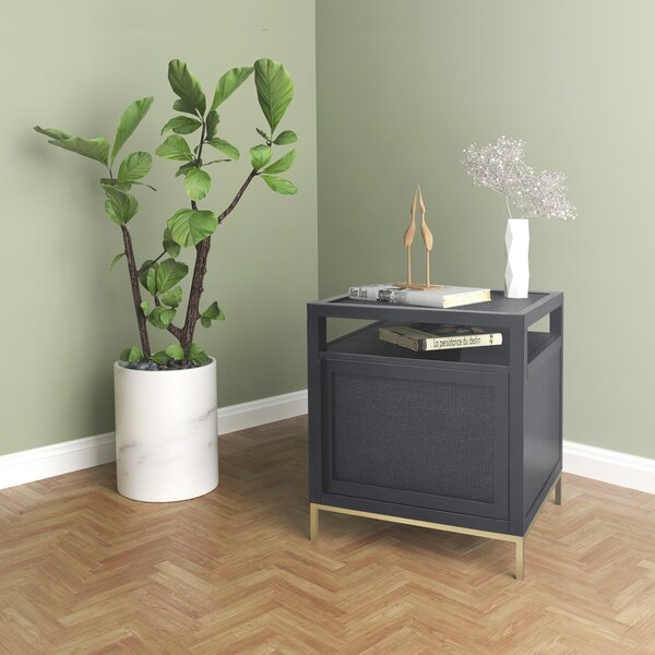 Delancey End Table With Storage By Hopper Studio
