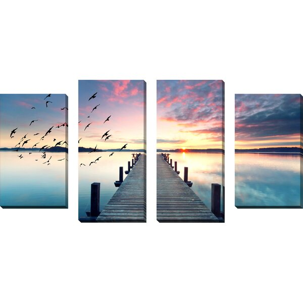 Learn to Fly 4 Piece Photographic Print on Wrapped Canvas Set by Picture Perfect International