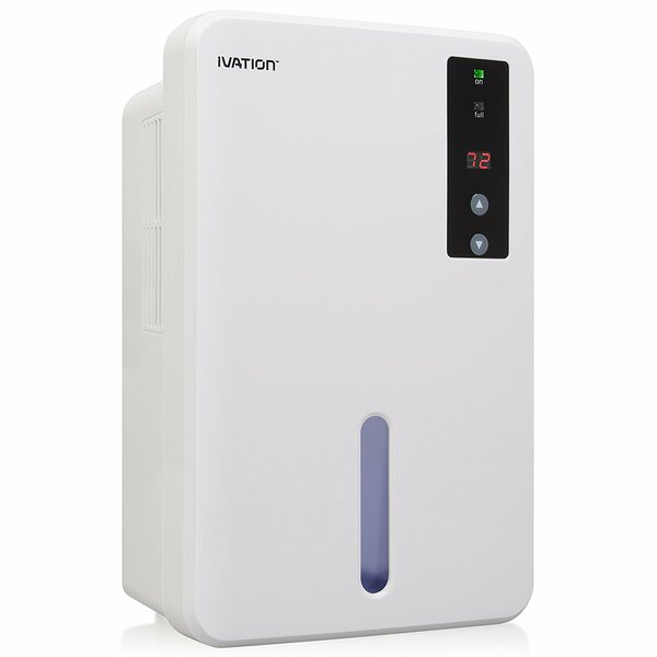 Ivation 0.84 Pint Dehumidifier with Auto Thermosta