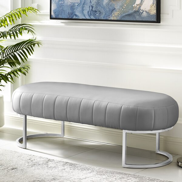 Kase Leather Bench by Nicole Miller