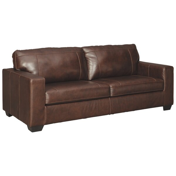 Besly Genuine Leather 85'' Square Arm Sofa By Red Barrel Studio