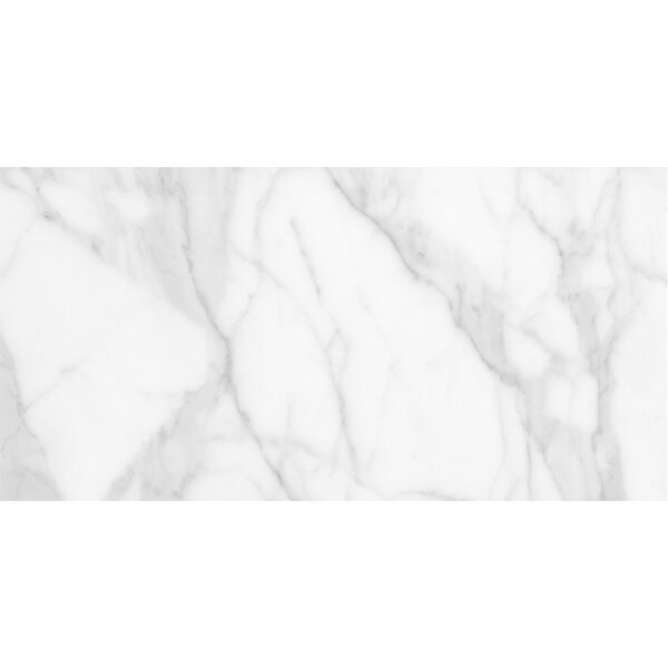 Quest Polished 12 x 24 Porcelain Field Tile in White by Emser Tile
